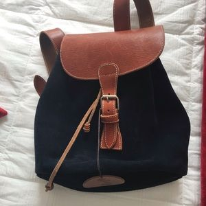 Handbags - Blue Suede Backpack